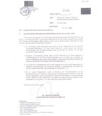 Ver Resolucion de la Subsecretaria de Salud de Chile