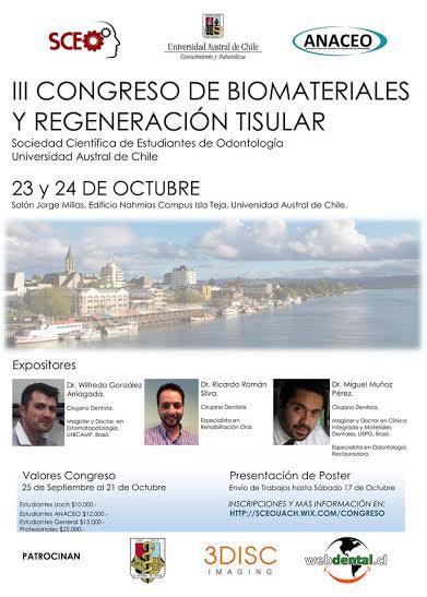 III congreso biomateriales regenarion tisular