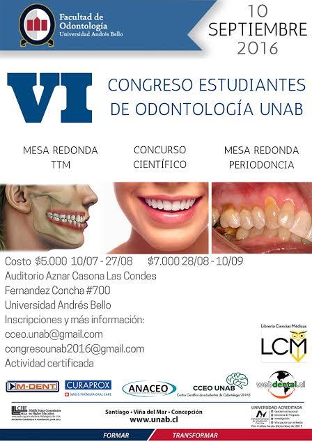 UNAB congreso estudiantes odontologia